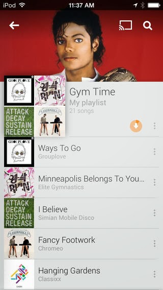 google play music on iPhone
