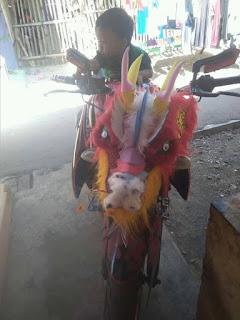 Gokil!!! Head Lamp Yamaha Byson Modif Ala Barongsai