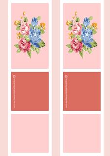 dos pequeñas tarjetas de rosas