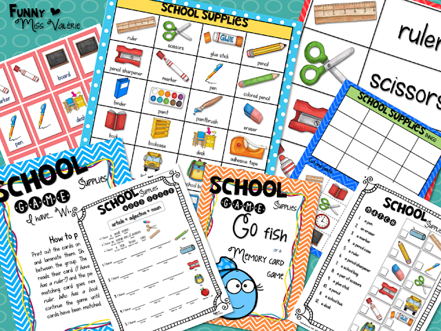 https://www.teacherspayteachers.com/Product/School-supplies-Flashcards-Games-Worksheets-2782618