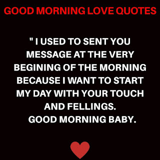 Good Morning Love, Good Morning for Love, Love Good Morning