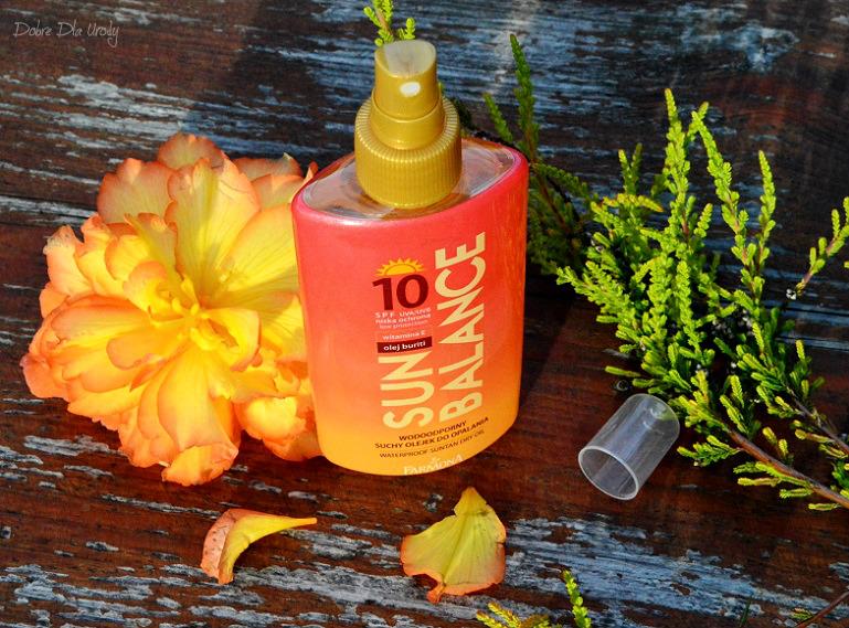 Sun Balance Wodoodporny suchy olejek do opalania SPF10 Laboratorium Farmona