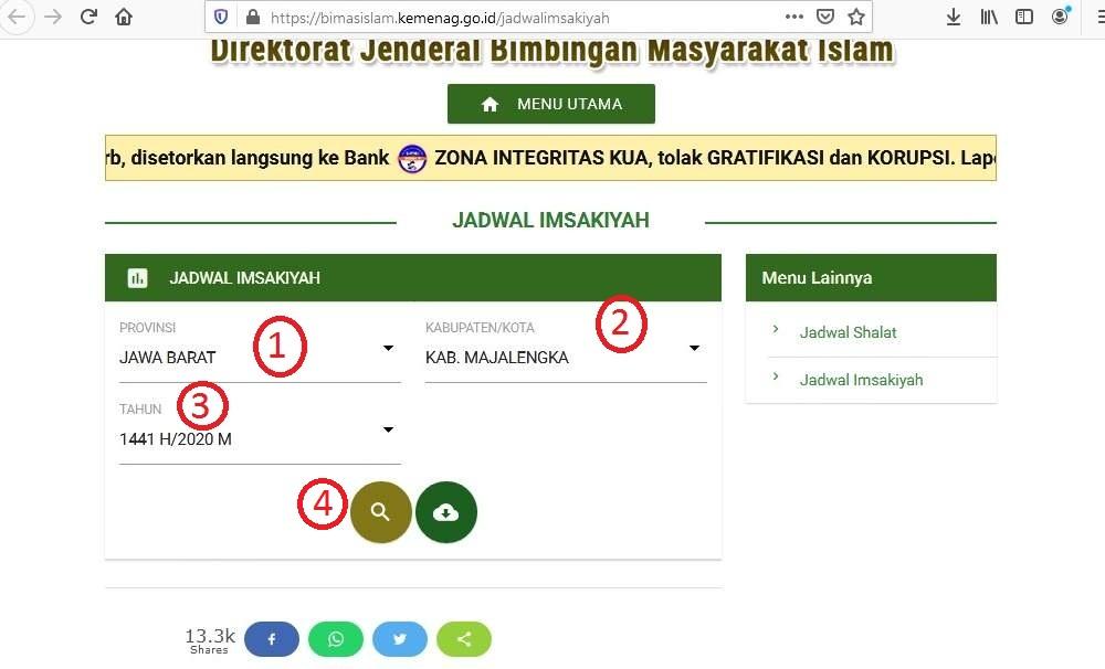 Jadwal Imsak Majalengka 2020/1441 H versi Kemenag ...