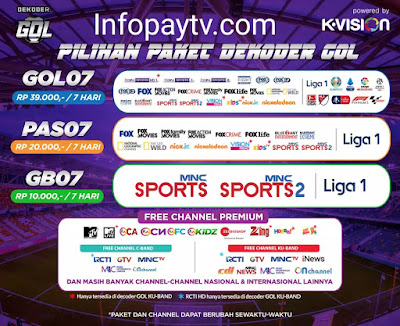 GB07 Paket GOL untuk Nonton Liga 1 2020