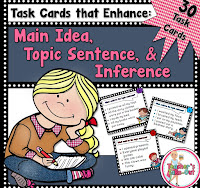 Main Idea, Topic Sentences, or Inference Task Cards