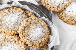 Gooey Butter Oatmeal Cookies (Crack Pie Cookies)