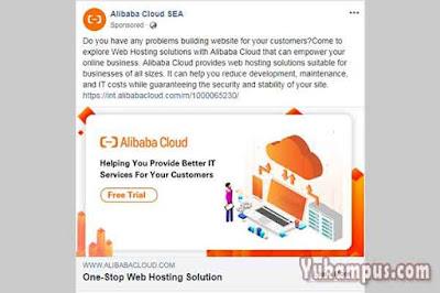 contoh iklan facebook ads alibaba