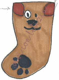 Cartamodello Calze della befana cane - dog christmas stockings