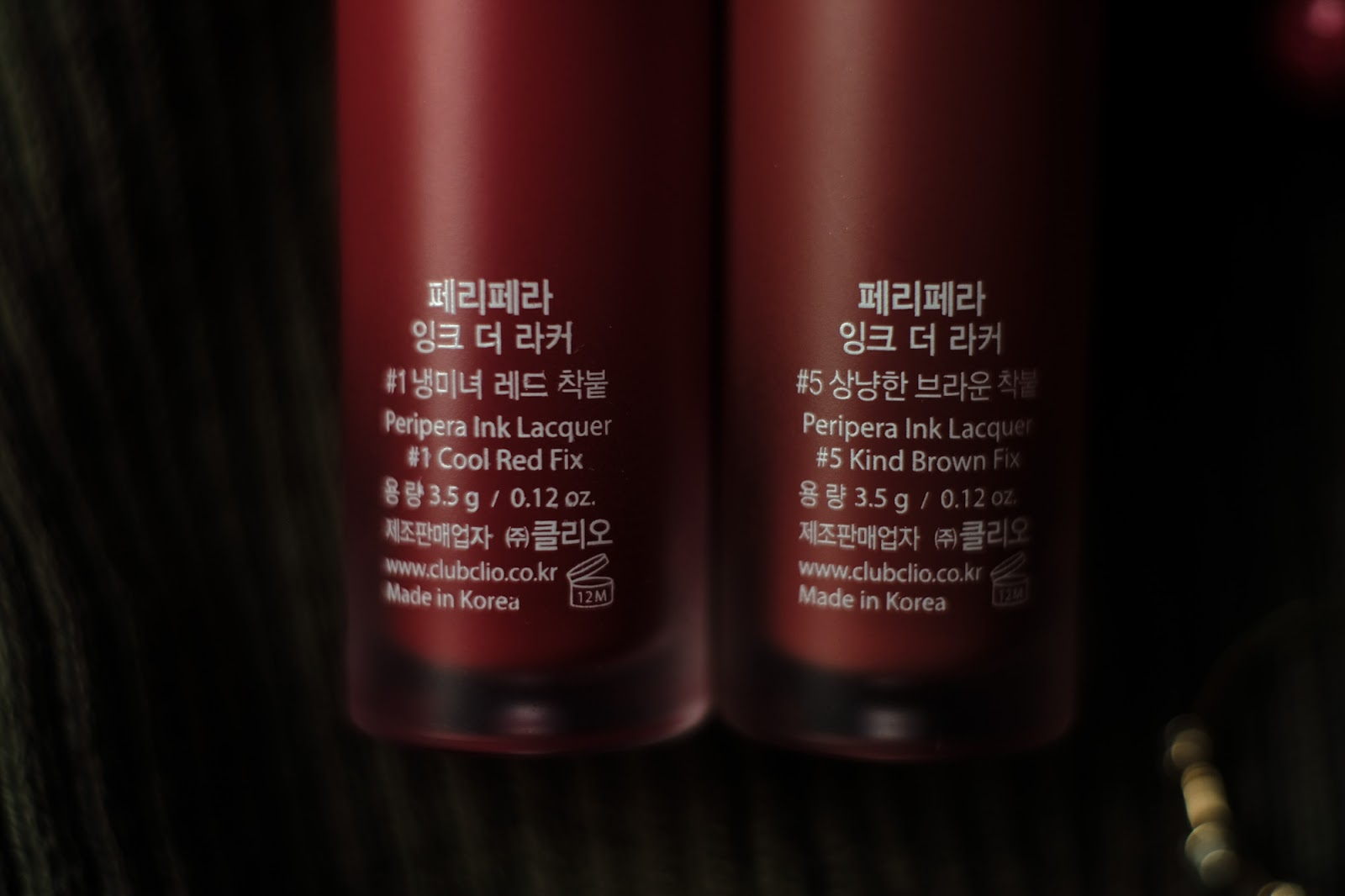 Peripera Ink Lacquer Cool Red Fix Kind Brown Fix