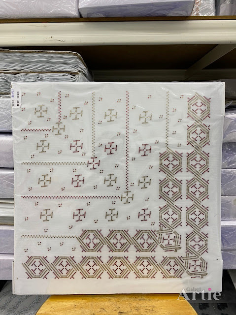 Hotfix stickers dmc rhinestone aplikasi tudung bawal fabrik pakaian bentuk abstrak hexagon silver maroon