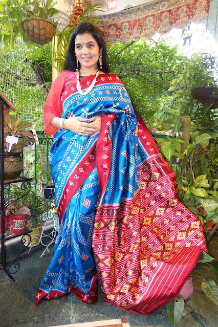 Sambalpuri silk pasapalli saree