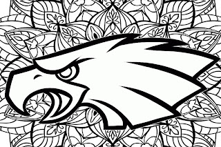 Philadelphia Eagles mandala coloring pages