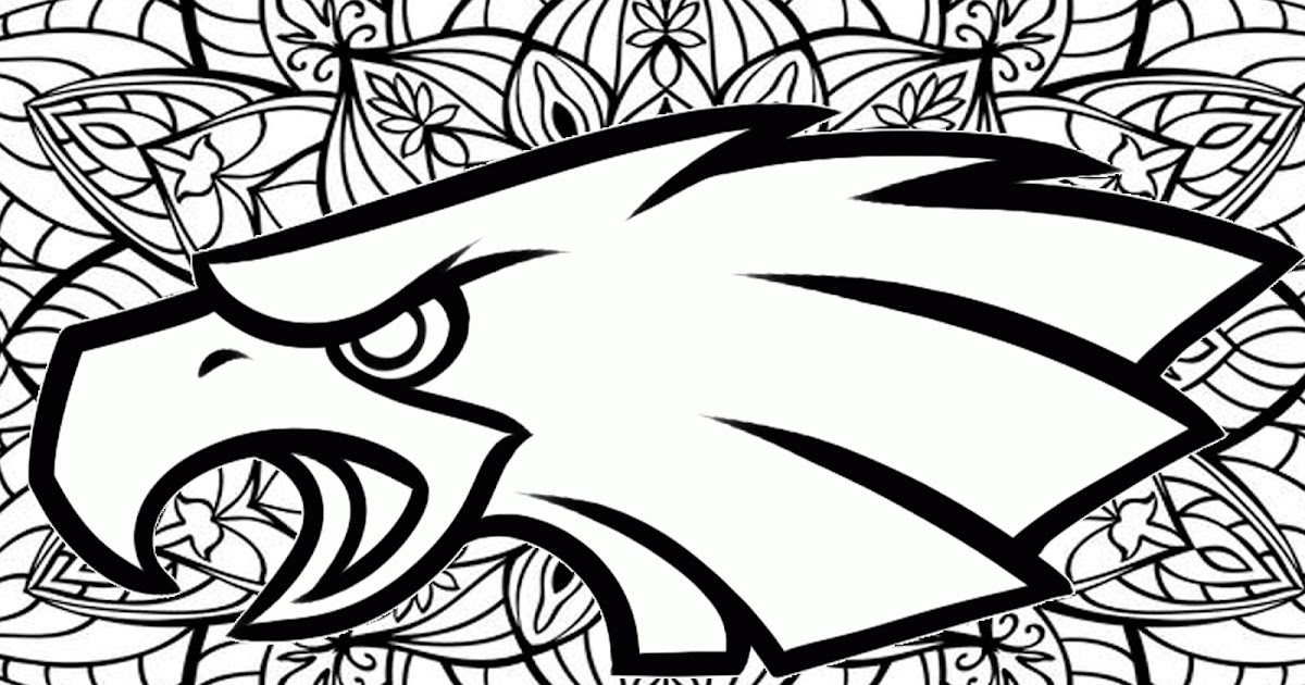 Philadelphia Eagles mandala coloring