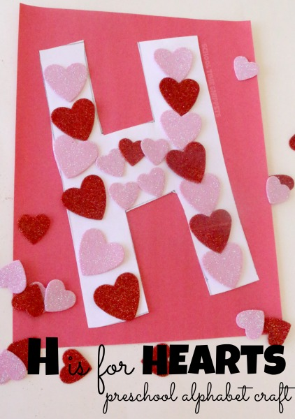 letter h is for hearts craft