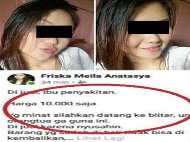 Friska Meila Anastasya Jual Ibu - FB