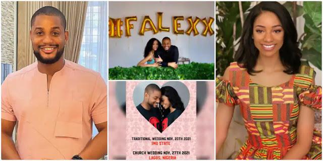 Alex Ekubo's fiancee, Fancy Acholonu reacts to her Break up with the actor
