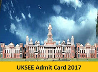 UKSEE Admit Card 2017