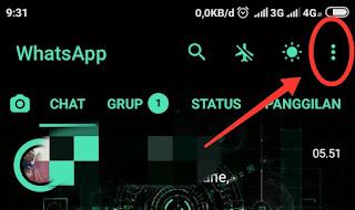 Keluar Akun whatsapp