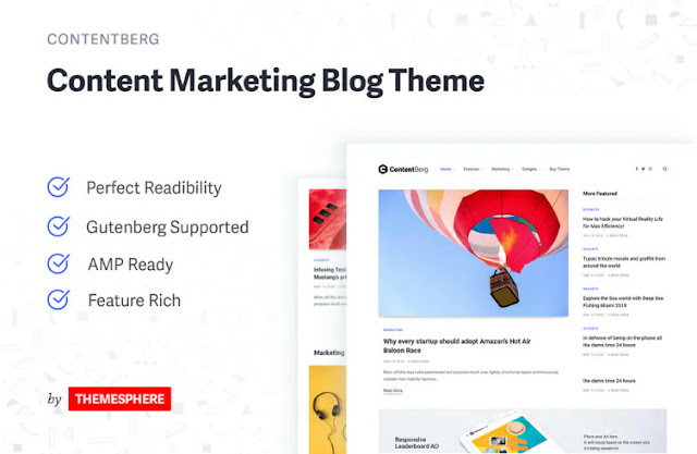 Free Download Contentberg Blog - Content Marketing Blog Theme