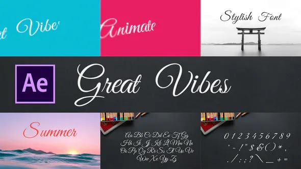Videohive Great Vibes – Animated Typeface for After Effects 28451669