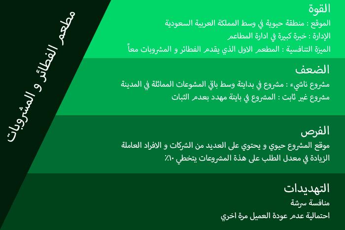 مثال على تحليل swot analysis بالعربي