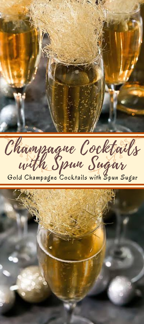 Champagne Cocktails with Spun Sugar  #healthydrink #easyrecipe #cocktail #smoothie