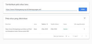 Submit Sitemap Halaman Blogger