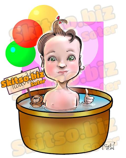 Προσκλητήριο Βάπτισης  Σκίτσο ευχών Baptism Invitation Sketch of wishes skitsobiz entertaiment εκδηλώσεις καρικατούρας