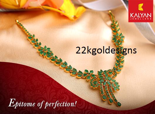 Kalyan Emerald Necklace 22kgolddesigns