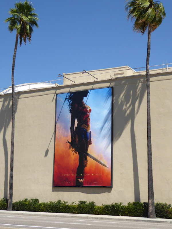 Wonder Woman movie teaser billboard