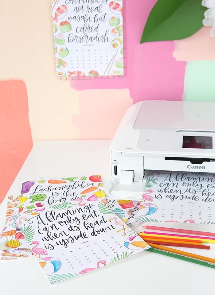 Printable Coloring Calendar 2017 Free : Free printable # calendar 2017 ohoh blog