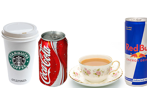 caffeinated drinks tea and cold drinks