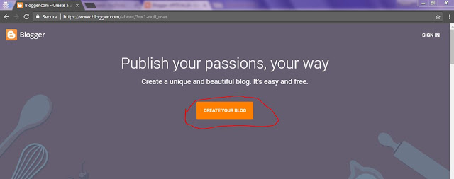 blog create
