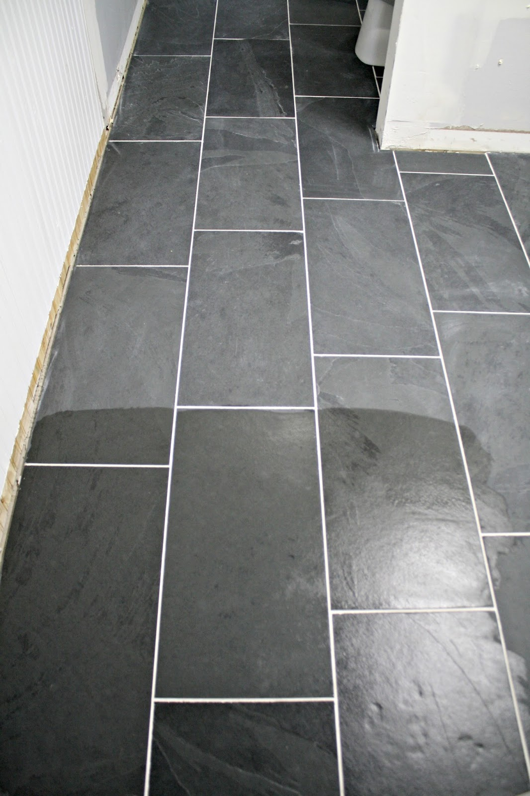 Bathroom Floor Tiles Sealing : How to tile a bathroom floor it s done white homes