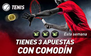 sportium Tenis: 3 Apuestas con Comodin 9-15 septiembre 2019