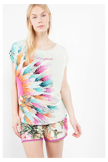 Botanical Plumas. Desigual. Camiseta de pijama