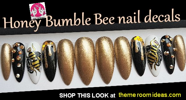 Honey Bumble Bee Wasp Nail Designs Bumblebee and Sunflower bee Nail art