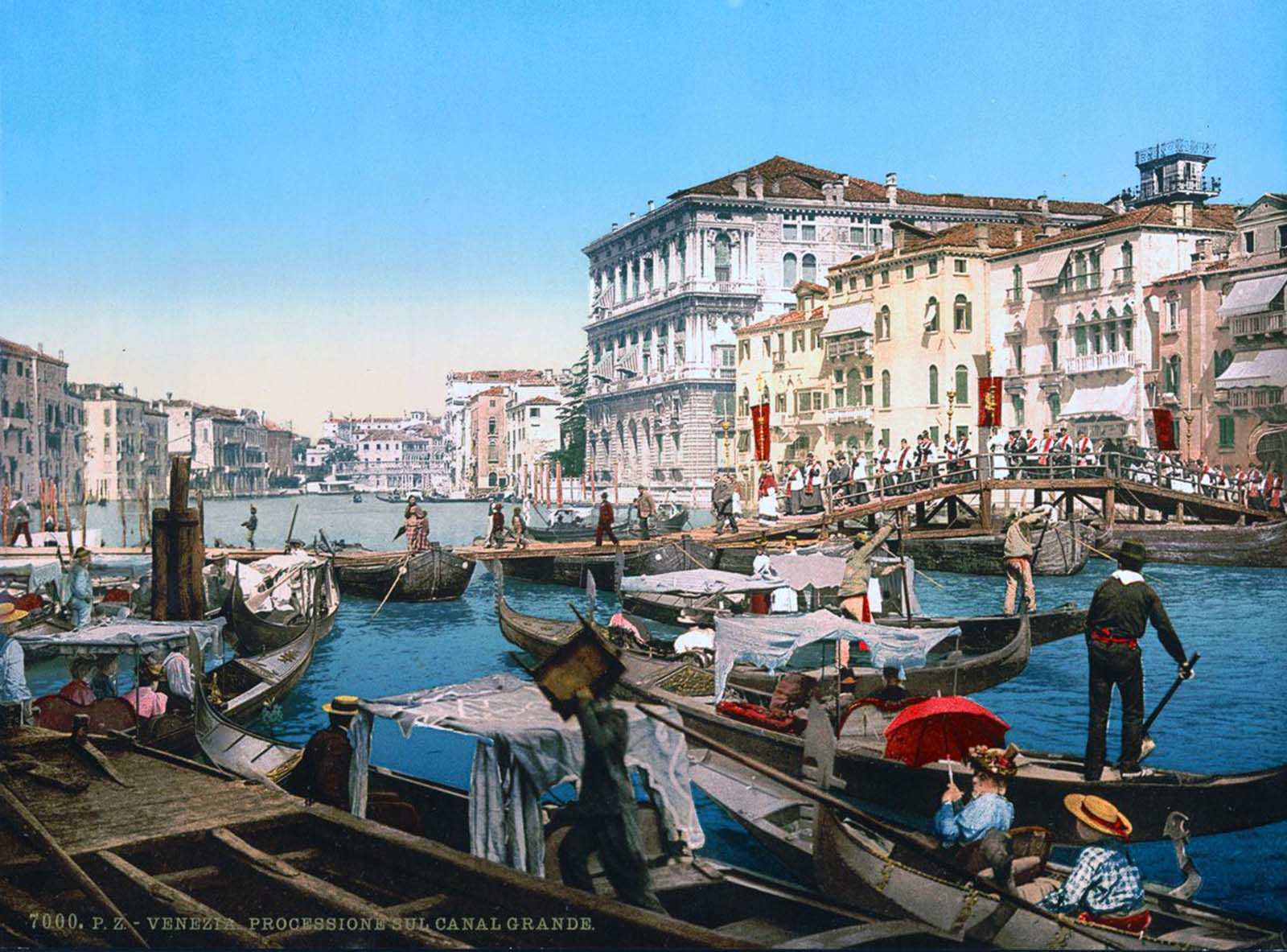A procession over the Grand Canal.
