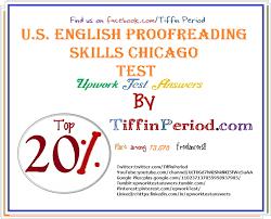 U.S. ENGLISH PROOFREADING SKILLS TEST (CHICAGO)