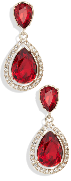 Givenchy Crystal Drop Earrings in Red/Gold