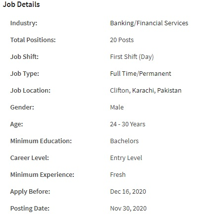 BankIslami Bank Pakistan Limited Jobs 2020 for Graduate Trainee Officer
