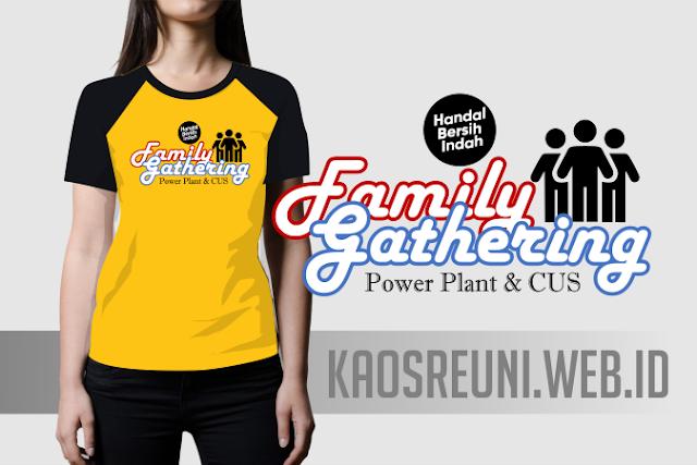 Sablon Kaos Family Gathering Power Plan Kombinasi Rgalan Hitam Kuning