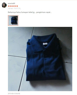 testimonial kaos polo navy vincentshop