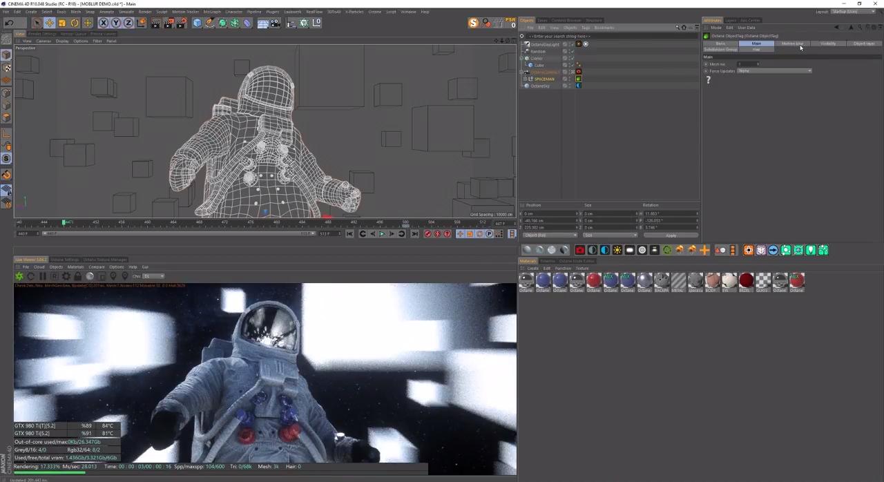 Applying Motion Blur in Octane For C4D | CG TUTORIAL