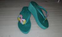 Sandal Spon Wanita Trendy (Sandal Japit Manik Tasik)