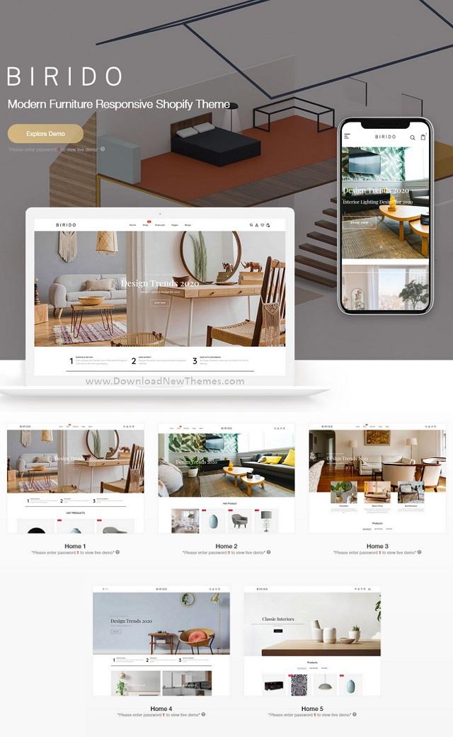Modern Furniture Responsive Shopify Theme