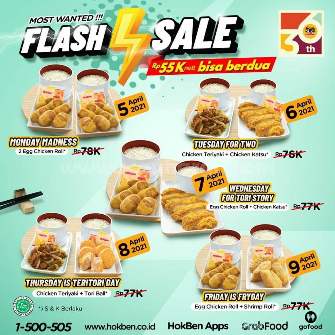HOKBEN FLASH SALE - Promo Paket Makan Berdua cuma Rp 22ribuan orang