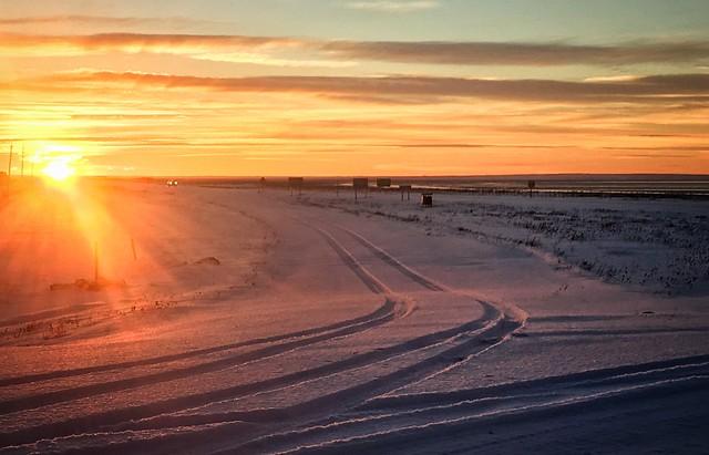 Tierra del Fuego winter sunset, Argentina.