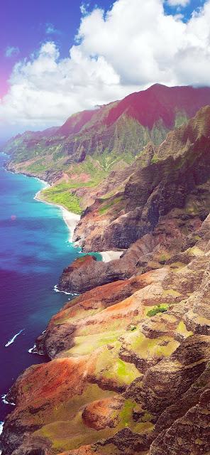 wallpaper per Iphone, isola, costa, mare