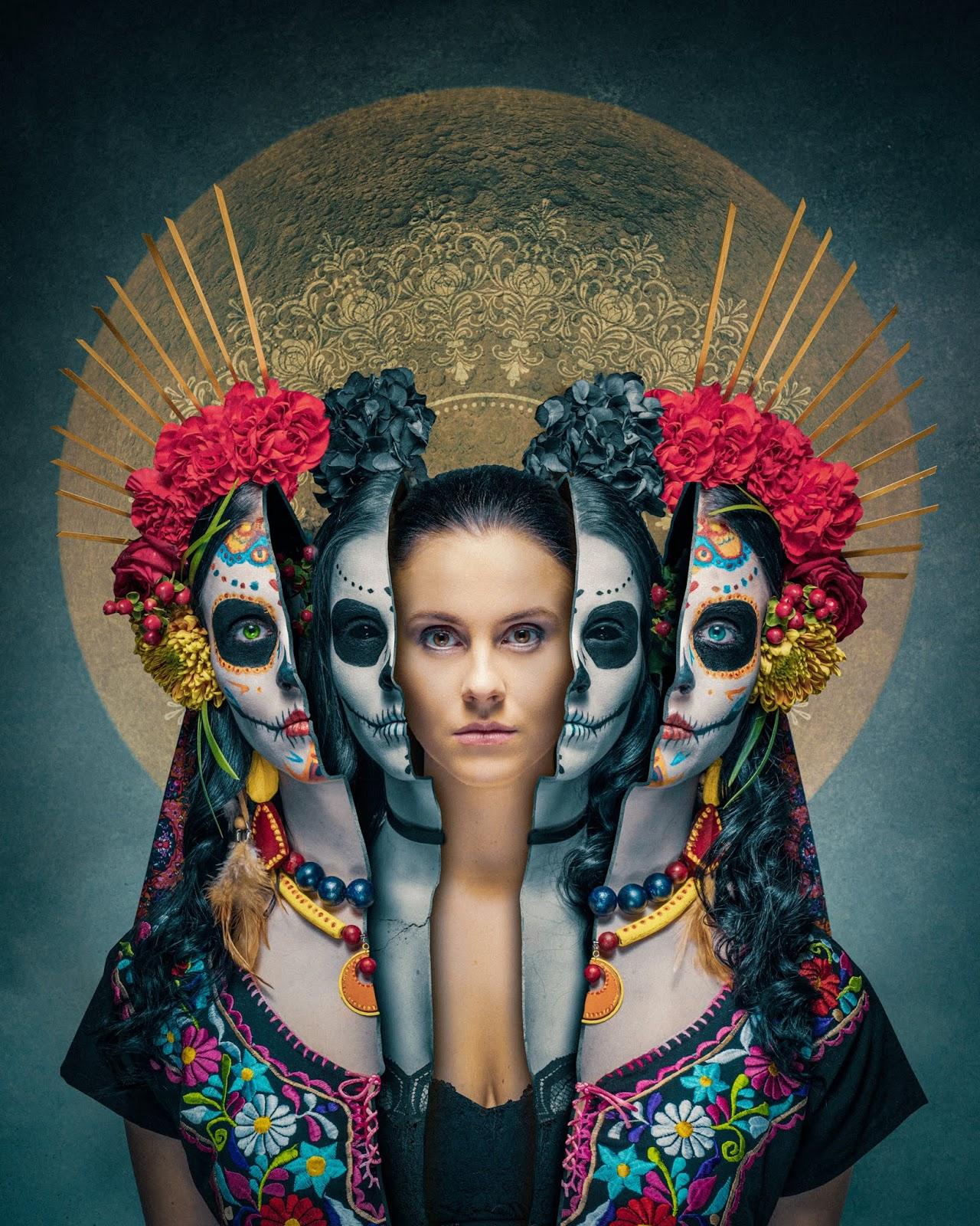 Mexico dia de los muertos : Layers of being human